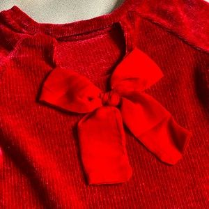 Jessica Simpson Red Bow Sweater